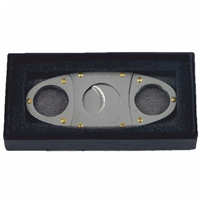 Twin Blade Riveted Cigar Cutter In Gift Box