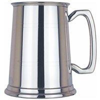 Two Line Straight One Pint Pewter Tankard
