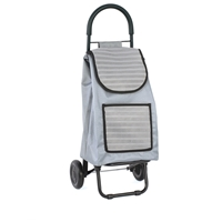 Buckingham 2 Wheel Shopping Trolley, Grey