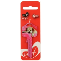 Art Key 5998 UL054 Puppy C10 On Red Silca Card