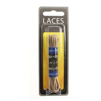 Shoe-String Blister Pack Laces - 100cm Round Taupe