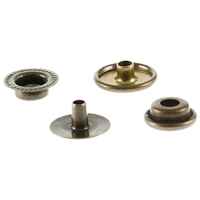 Duradot/BC Snap Fasteners 15mm Old Brass Finish (Bag Of 50)