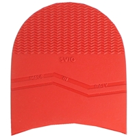 Svig Rodi Rubber Heels 7mm Size 3, 3 3/8 Inch Red