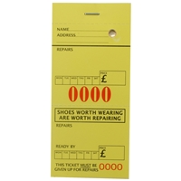 Shoe Repair Tickets Yellow Pack Of 1,000