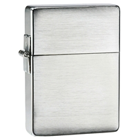 Zippo Brushed Chrome Lighter 1935 Replica