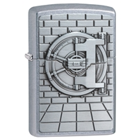 Zippo Street Chrome Lighter - Safe With Gold Cash Surprise
