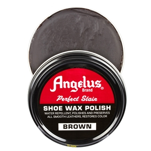 Angelus Perfect Stain Wax Shoe Polish 60ml Brown