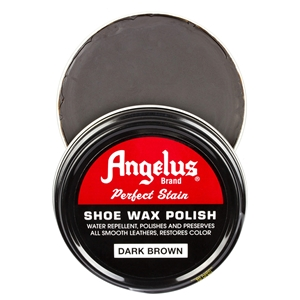 Angelus Perfect Stain Wax Shoe Polish 60ml Dark Brown