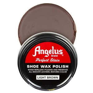 Angelus Perfect Stain Wax Shoe Polish 60ml Light Brown