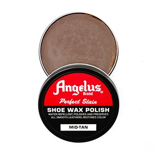 Angelus Perfect Stain Wax Shoe Polish 60ml Mid Tan