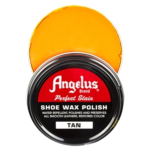 Angelus Perfect Stain Wax Shoe Polish 60ml Tan (Light Tan)