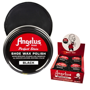 Angelus Perfect Stain Wax Shoe Polish Extra Large 3 fl oz/88ml Black