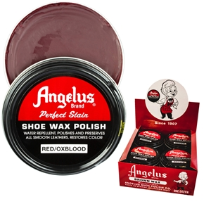 Angelus Perfect Stain Wax Shoe Polish Extra Large 3 fl oz/88ml Ox Blood