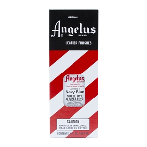 Angelus Suede Dye and Dressing, 3 fl oz/89ml Bottle. Navy Blue