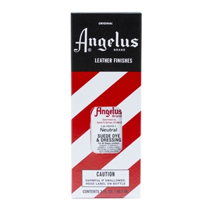 Angelus Suede Dye and Dressing, 3 fl oz/89ml Bottle. Neutral