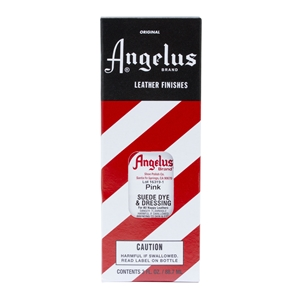 Angelus Suede Dye and Dressing, 3 fl oz/89ml Bottle. Pink