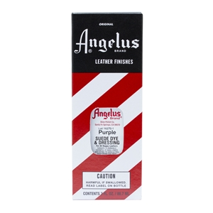 Angelus Suede Dye and Dressing, 3 fl oz/89ml Bottle. Purple