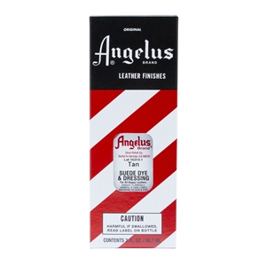 Angelus Suede Dye and Dressing, 3 fl oz/89ml Bottle. Tan