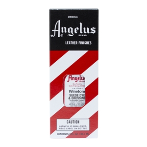 Angelus Suede Dye and Dressing, 3 fl oz/89ml Bottle. Winetone