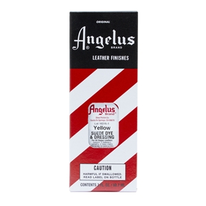 Angelus Suede Dye and Dressing, 3 fl oz/89ml Bottle. Yellow