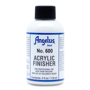 Angelus Acrylic Finisher 600 Standard Gloss Finish. 4 fl oz/118ml Bottle
