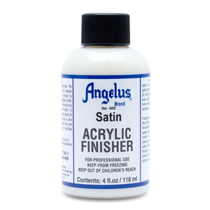 Angelus Acrylic Finisher 605 Satin Finish. 4 fl oz/118ml Bottle