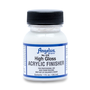Angelus Acrylic Finisher 610 High Gloss Hard Finish. I fl oz/30ml Bottle