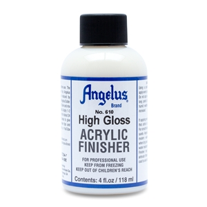 Angelus Acrylic Finisher 610 High Gloss Hard Finish. 4 fl oz/118ml Bottle