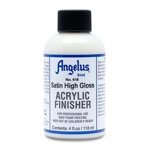 Angelus Acrylic Finisher 615 Satin Gloss Hard Finish. 4 fl oz/118ml Bottle