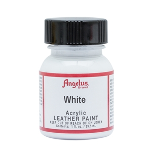 Angelus Acrylic Leather Paint 1 fl oz/30ml Bottle. White 005