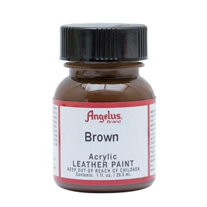 Angelus Acrylic Leather Paint 1 fl oz/30ml Bottle. Brown 014