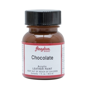 Angelus Acrylic Leather Paint 1 fl oz/30ml Bottle. Chocolate 015