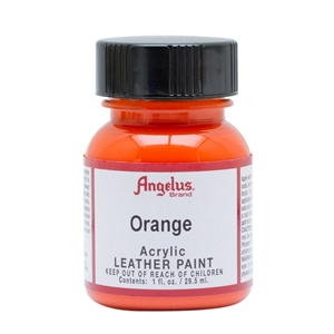 Angelus Acrylic Leather Paint 1 fl oz/30ml Bottle. Orange 024