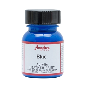 Angelus Acrylic Leather Paint 1 fl oz/30ml Bottle. Blue 040
