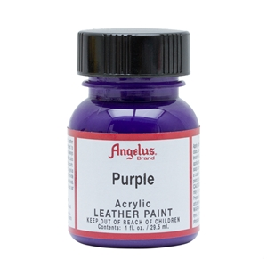 Angelus Acrylic Leather Paint 1 fl oz/30ml Bottle. Purple 047