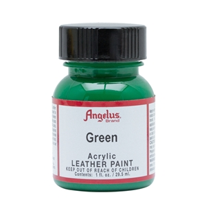 Angelus Acrylic Leather Paint 1 fl oz/30ml Bottle. Green 050