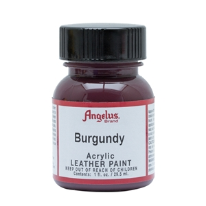 Angelus Acrylic Leather Paint 1 fl oz/30ml Bottle. Burgundy 060