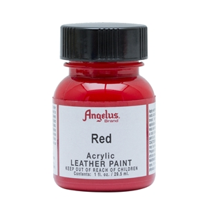 Angelus Acrylic Leather Paint 1 fl oz/30ml Bottle. Red 064