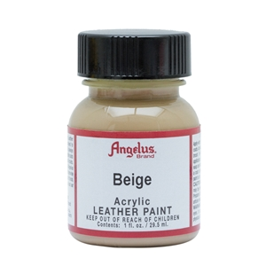 Angelus Acrylic Leather Paint 1 fl oz/30ml Bottle. Beige 070