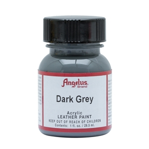 Angelus Acrylic Leather Paint 1 fl oz/30ml Bottle. Dark Grey 080