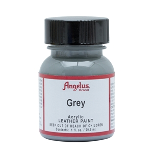 Angelus Acrylic Leather Paint 1 fl oz/30ml Bottle. Grey 081