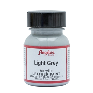 Angelus Acrylic Leather Paint 1 fl oz/30ml Bottle. Light Grey 082