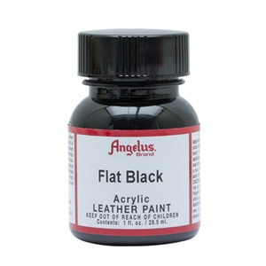 Angelus Acrylic Leather Paint 1 fl oz/30ml Bottle. Flat Black 101