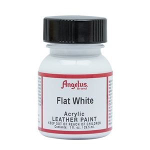 Angelus Acrylic Leather Paint 1 fl oz/30ml Bottle. Flat White 105