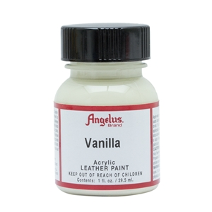 Angelus Acrylic Leather Paint 1 fl oz/30ml Bottle. Vanilla 160