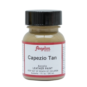 Angelus Acrylic Leather Paint 1 fl oz/30ml Bottle. Capezio Tan 163
