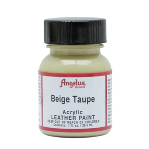 Angelus Acrylic Leather Paint 1 fl oz/30ml Bottle. Beige Taupe 165