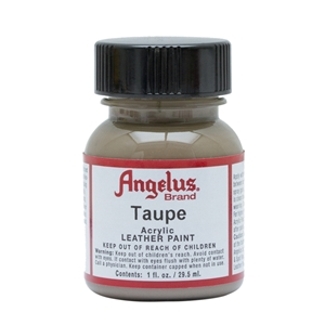 Angelus Acrylic Leather Paint 1 fl oz/30ml Bottle. Taupe 167