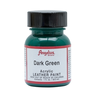 Angelus Acrylic Leather Paint 1 fl oz/30ml Bottle. Dark Green 171
