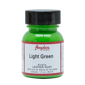 Angelus Acrylic Leather Paint 1 fl oz/30ml Bottle. Light Green 172